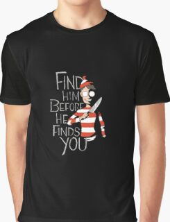 Where's Wally: Find Him Graphic T-Shirt