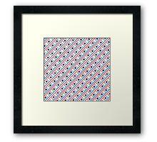 North & South Korean flags mixed beautiful pattern art Framed Print
