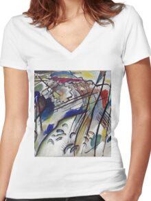 Kandinsky - Improvisation 28 Women's Fitted V-Neck T-Shirt