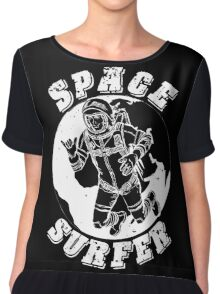 space surfer black Chiffon Top