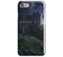 Burg Scharfenberg at Night  by Ernst Ferdinand Oehme iPhone Case/Skin