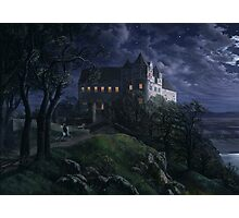 Burg Scharfenberg at Night  by Ernst Ferdinand Oehme Photographic Print