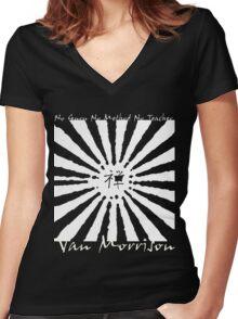 Van Morrison No Guru Women's Fitted V-Neck T-Shirt