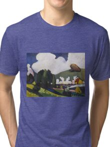 Kandinsky - Landscape Near Murnau With A Locomotive Tri-blend T-Shirt