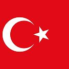 Turkey Flag Stickers by Mark Podger