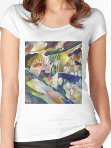 Kandinsky - Landscape With Rain Women's Fitted Scoop T-Shirt