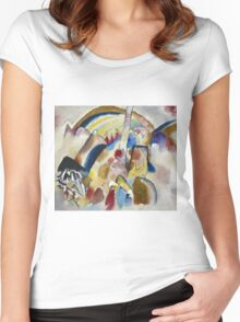 Kandinsky - Landscape With Red Spots, No. 2 Women's Fitted Scoop T-Shirt
