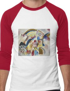 Kandinsky - Landscape With Red Spots, No. 2 Men's Baseball ¾ T-Shirt