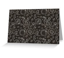 Coffee outline seamless pattern Greeting Card
