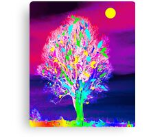 Fire Tree Canvas Print