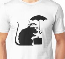 Banksy - Umbrella Rat Unisex T-Shirt