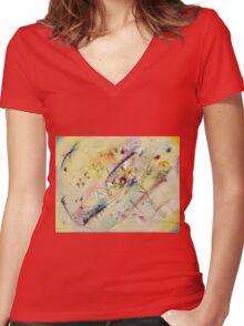 Kandinsky - Light Picture Women's Fitted V-Neck T-Shirt