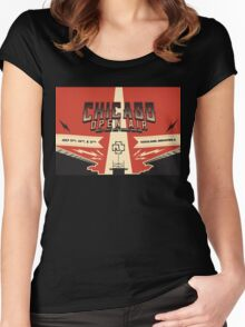 Chicago Open Air Music Festival 3 Women's Fitted Scoop T-Shirt