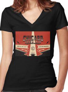 Chicago Open Air Music Festival 3 Women's Fitted V-Neck T-Shirt