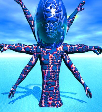 Alien Sculpture Sticker