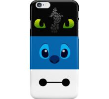toothless, stitch and baymax iPhone Case/Skin
