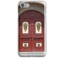 Carved Wooden Door in a Church iPhone Case/Skin