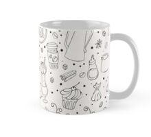 Coffee outline seamless pattern Mug