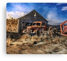 Old Wheels     Canvas Print