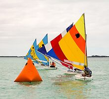 Racing In The Sea of Abaco Off Elbow Cay, Bahamas by Robert Kelch, M.D.