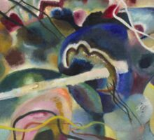 Kandinsky - Painting With White Border Moscow Sticker