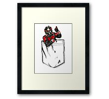 Ant Man in Pocket Framed Print