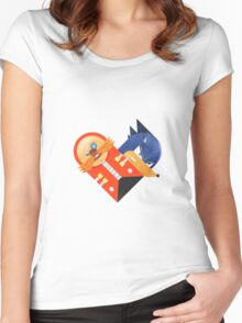 Dr. Egg Man & Sonic Women's Fitted Scoop T-Shirt