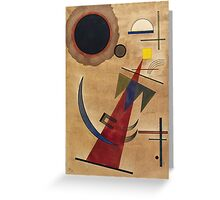Kandinsky - Rot In Spitzform 1925  Greeting Card