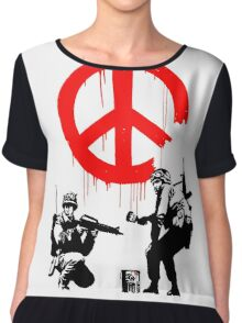 Banksy - Soldiers Painting Peace (CND Soldiers) Chiffon Top