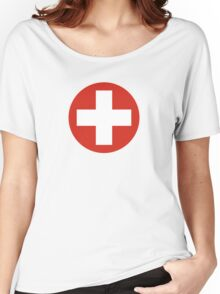 Roundel of the Swiss Air Force Women's Relaxed Fit T-Shirt