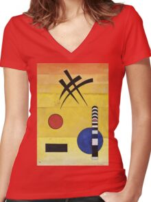 Kandinsky - Sign Women's Fitted V-Neck T-Shirt