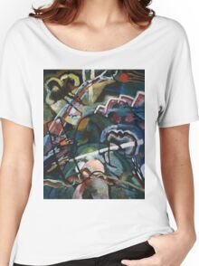 Kandinsky - Sketch I For  Painting With White Border Women's Relaxed Fit T-Shirt