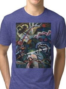 Kandinsky - Sketch I For  Painting With White Border Tri-blend T-Shirt