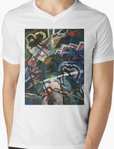 Kandinsky - Sketch I For  Painting With White Border Mens V-Neck T-Shirt