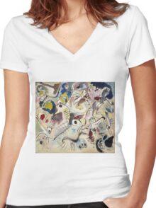 Kandinsky - Skizze Women's Fitted V-Neck T-Shirt