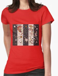 Kandinsky - Striped Womens Fitted T-Shirt