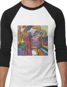 Kandinsky - Study For  Painting With White Border Men's Baseball ¾ T-Shirt