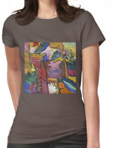 Kandinsky - Study For  Painting With White Border Womens Fitted T-Shirt