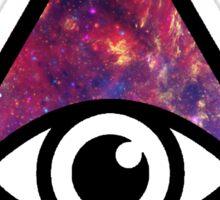 All Seeing Galaxy Eye Sticker