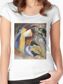 Kandinsky - Study For Painting With White Form Women's Fitted Scoop T-Shirt