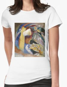 Kandinsky - Study For Painting With White Form Womens Fitted T-Shirt