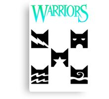 Warrior cats design Canvas Print