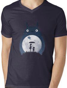 Moonlight Flight Mens V-Neck T-Shirt