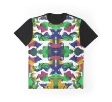 Kaleidoscope Ink Blotch Pattern Graphic T-Shirt