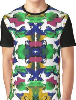 Kaleidoscope Ink Blotch Pattern Graphic T-Shirt