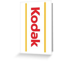 Kodak film and Cameras Greeting Card