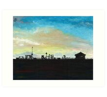 West Hill Playground at Dusk Art Print