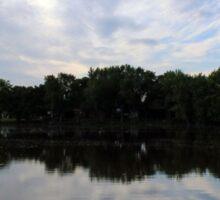 Lake Reflection Sticker
