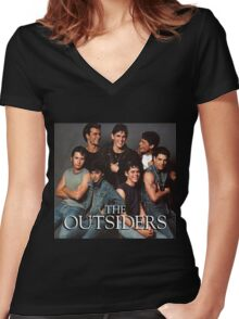 The Outsiders Drama/Teen Film Women's Fitted V-Neck T-Shirt