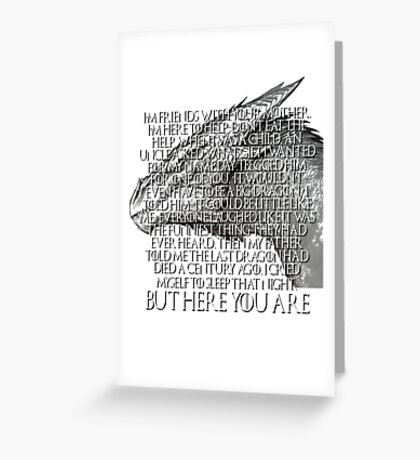 Tyrion Lannister Game Thrones GOT Imp Dragon Speech But Here You Are Greeting Card